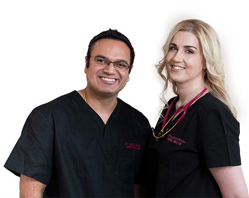 Dr Nitin Shori and Dr Alexandra Phelan