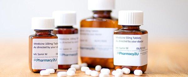 Prescription drugs dispensed by Pharmacy2U