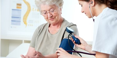 Woman Having Her Blood Pressure Taken